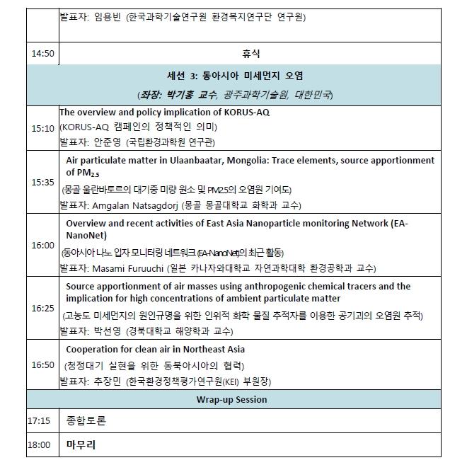 이미지 3:[미세먼지사업단] 2018 동아시아 포럼 개최