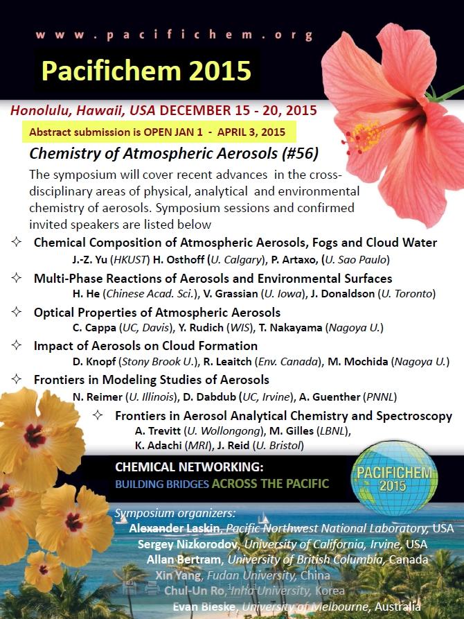 이미지 1:Chemistry of Atmospheric Aerosols symposium at Pacifichem 2015