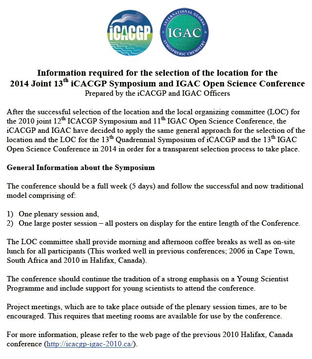 이미지 1:2014 joint iCACGP and IGAC Conference</font>